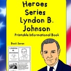 American Heroes Series-Book Eight-Lyndon B. Johnson Printa