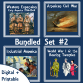 American History Lap Books - Bundled Set #2