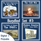 American History Lap Books - Bundled Set #3