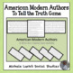 American Modern Authors Who Am I Role Cards for To Tell Th