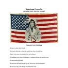 American Proverbs, Including Native American Sayings
