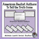 "American Realist Authors Who Am I ""To Tell the Truth"" Game"