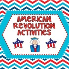 American Revolution Activities Pack