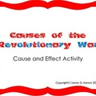 American Revolution Cause and Effect Activity
