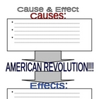 American Revolution - Causes & Effects Simple Worksheet