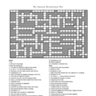 American Revolution Crossword Puzzle