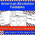 American Revolution Foldables 12 Pack