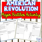 American Revolution Major Battle Graphic Organizer