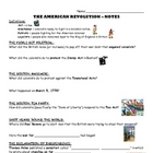 American Revolution - Overview Worksheet