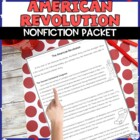 American Revolution Reading Packet with Comprehension Q&#039;s
