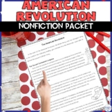 American Revolution Reading Packet with Comprehension Q's