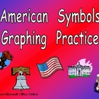 American Symbols Graphing Practice for Kindergarten- Veterans Day