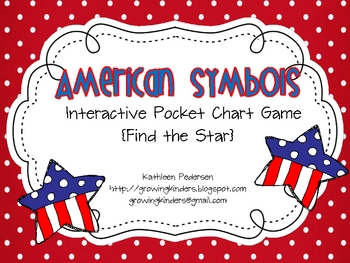 American Symbols Interactive Pocket Chart Game