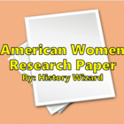 American Women Research Paper