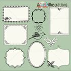 Amore frames and borders clipart collection