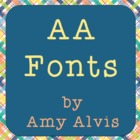 Amy Alvis Fonts - Complete Font Bundle - Commercial and Pe