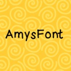 AmysFont - Amy Alvis Fonts - Personal or Commercial Use