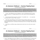 An American Childhood Exam