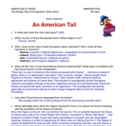 &quot;An American Tail&quot; movie study guide &amp; Answer Key