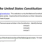 An Online Exploration of the US Constitution