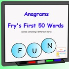 Anagrams Fry's First 50 Words