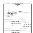 Analogies  Free Samples from 910 Word Analogies for Young. . .