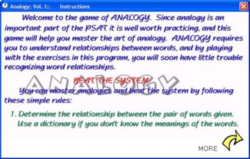 Analogy I (Analogy Fun Practice Program)