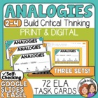 Analogy Task Cards: 72 multiple choice cards plus answer sheet