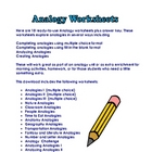 Analogy Printables for Practicing and Analyzing Analogies.