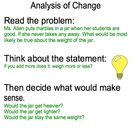 Analysis of Change