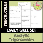 Analytic Trigonometry Daily Quizzes