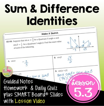 Analytic Trigonometry Lesson 3: Sum & Difference Identities
