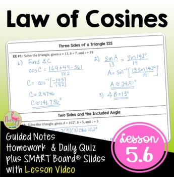 Analytic Trigonometry Lesson 6: The Law of Cosines