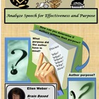 Analyze Speech for Author Purpose and Effectiveness - CCSS