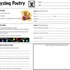Analyzing A Poem - Worksheet