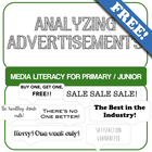 Analyzing Advertisements- Media Literacy Primary/Junior