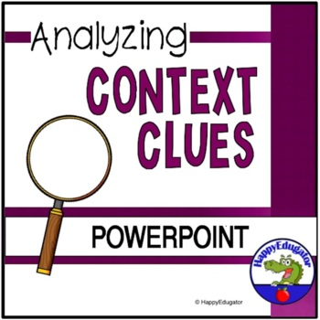 Analyzing Context Clues PowerPoint