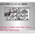 Analyzing Tables with CASIO Graphing Calculator (Linear Fu