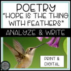 "Analyzing and Writing Poetry: ""Hope is the Thing With Feathers"""
