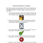Anchor Activity for Space