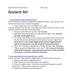 Ancient Art Web Activity