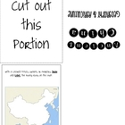 Ancient China Geography &amp; Agriculture Foldable