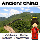 Ancient China: Vocabulary Cards, Assessments & Activities