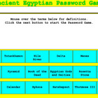Ancient Egyptian Vocabulary Password Game - Bill Burton