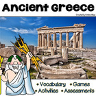 Ancient Greece Vocabulary Cards, Assessments & Activities