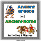 Ancient Greece or Ancient Rome- Activities and Games