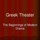 Ancient Greek Theater and Classical Tragedy Background Pow