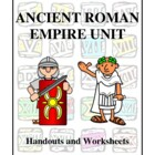 Ancient Rome Empire Unit, Handouts and Worksheets