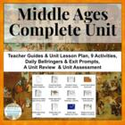 Ancient World History Middle Ages Unit Plan and Materials