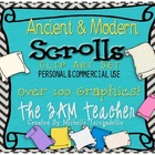 Ancient and Modern Scrolls: Clip Art Collection